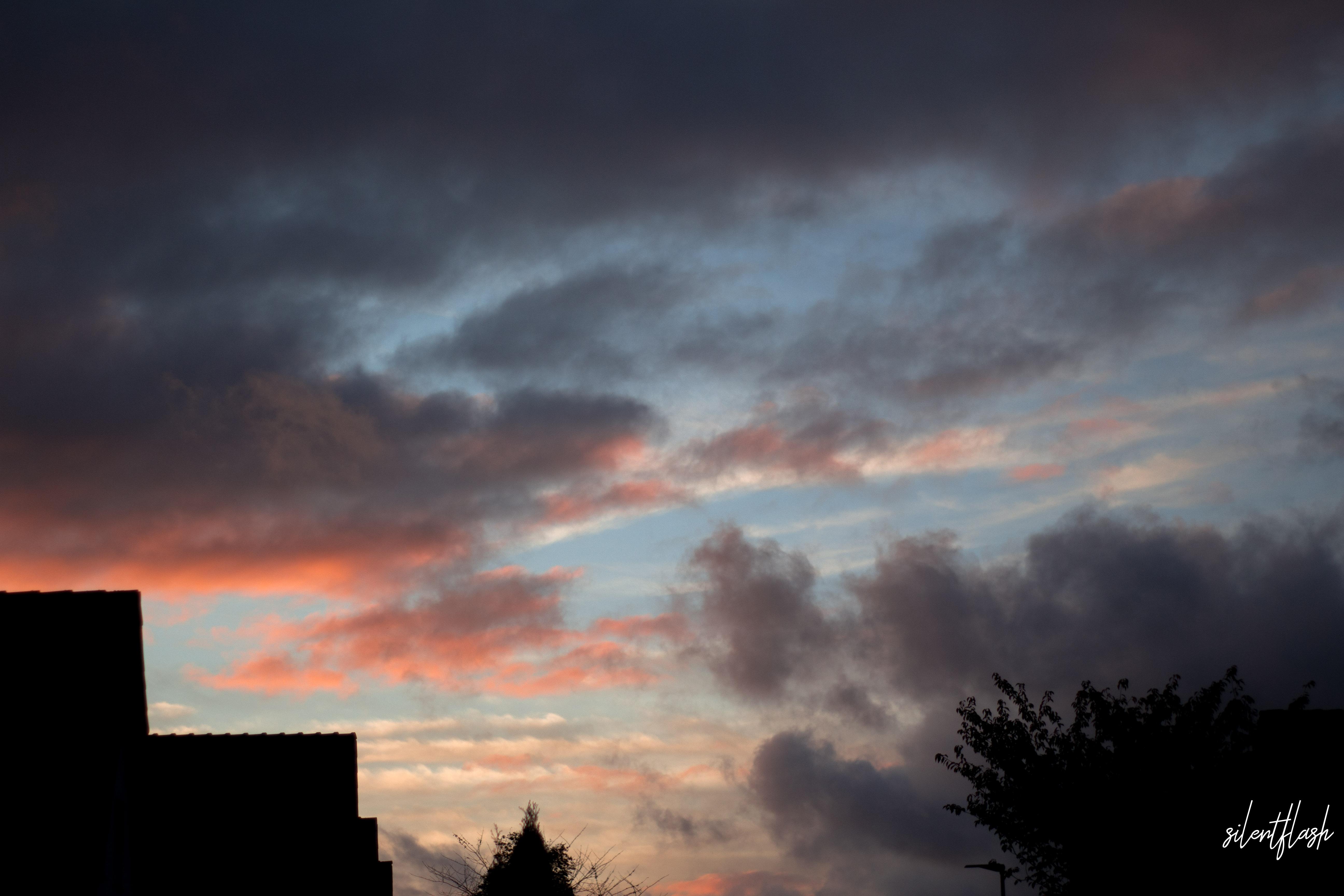 Verwischte Wolken